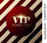 vip invitation with golden... | Shutterstock . vector #1166037415