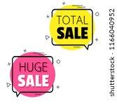 total sale. huge sale. | Shutterstock .eps vector #1166040952