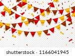 thanksgiving day  flags garland ...   Shutterstock .eps vector #1166041945