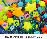 the word dreams on colorful... | Shutterstock . vector #116604286