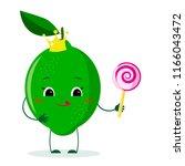 cute lime cartoon character...   Shutterstock .eps vector #1166043472