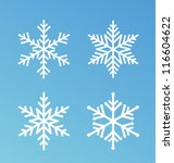 vector snowflakes set for... | Shutterstock .eps vector #116604622