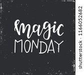 magic monday hand drawn... | Shutterstock .eps vector #1166052682