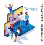 teamwork. illustration for the... | Shutterstock .eps vector #1166059162
