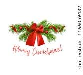 vector christmas illustration... | Shutterstock .eps vector #1166059432