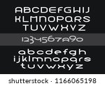 rounded latin script with... | Shutterstock .eps vector #1166065198