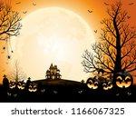 halloween pumpkins  spooky... | Shutterstock .eps vector #1166067325