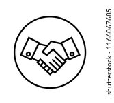 shaking hands icon vector.   Shutterstock .eps vector #1166067685