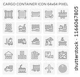 vector line icon of cargo... | Shutterstock .eps vector #1166067805