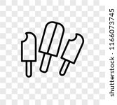 popsicle vector icon isolated... | Shutterstock .eps vector #1166073745