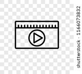 movie vector icon isolated on... | Shutterstock .eps vector #1166073832