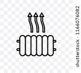 heat vector icon isolated on... | Shutterstock .eps vector #1166076082