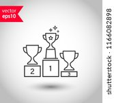 goblet podium vector icon. cup... | Shutterstock .eps vector #1166082898