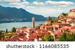 colorful summer view of como...   Shutterstock . vector #1166085535