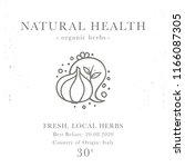 natural health   emblem of...   Shutterstock . vector #1166087305