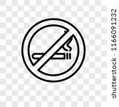no smoking vector icon isolated ... | Shutterstock .eps vector #1166091232