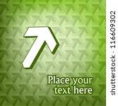 big white 3d arrow on green... | Shutterstock .eps vector #116609302