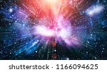 starry outer space   Shutterstock . vector #1166094625
