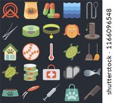 set of 25 icons such as comb ...