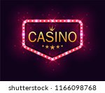 casino banner on a shining... | Shutterstock . vector #1166098768