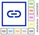 insert link flat color icons in ...   Shutterstock .eps vector #1166101852