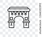 arc of triomphe vector icon... | Shutterstock .eps vector #1166102392
