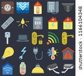 set of 25 icons such as cctv ...