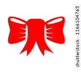 vector red ribbon bow... | Shutterstock .eps vector #1166104765