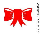 vector red ribbon bow... | Shutterstock .eps vector #1166104765
