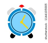 vector clock alarm illustration ... | Shutterstock .eps vector #1166105005