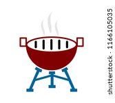 vector bbq grill illustration   ... | Shutterstock .eps vector #1166105035