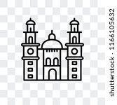morelia cathedral in mexico... | Shutterstock .eps vector #1166105632