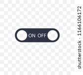 switch vector icon isolated on... | Shutterstock .eps vector #1166106172