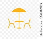 terrace vector icon isolated on ... | Shutterstock .eps vector #1166106385