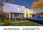 3d rendering of modern cozy... | Shutterstock . vector #1166106772