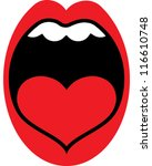 mouth | Shutterstock .eps vector #116610748