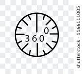 360 degrees vector icon... | Shutterstock .eps vector #1166111005