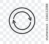 360 degrees vector icon... | Shutterstock .eps vector #1166112088