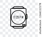 smartwatch vector icon isolated ... | Shutterstock .eps vector #1166112178