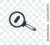 zoom out vector icon isolated...   Shutterstock .eps vector #1166115472