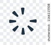 waiting vector icon isolated on ... | Shutterstock .eps vector #1166115508