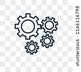 settings vector icon isolated... | Shutterstock .eps vector #1166116798