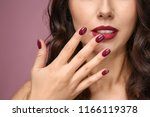 beautiful young woman with... | Shutterstock . vector #1166119378