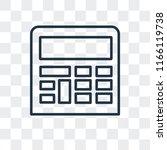calculator vector icon isolated ... | Shutterstock .eps vector #1166119738