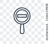 zoom out vector icon isolated...   Shutterstock .eps vector #1166119858