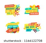 discount or sale emblems set... | Shutterstock .eps vector #1166122708