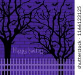 halloween tree hand drawn... | Shutterstock .eps vector #1166123125