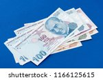turkish banknotes  turkish lira ... | Shutterstock . vector #1166125615