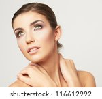 close up portrait of beautiful... | Shutterstock . vector #116612992