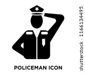 policeman icon vector isolated...   Shutterstock .eps vector #1166134495
